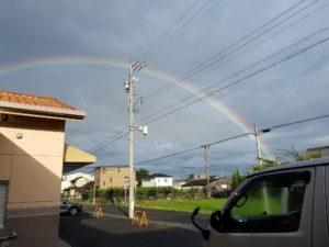 にしはるひまわり作業所に虹